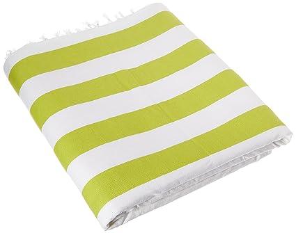 Cubierta de nueve espacio Fouta toalla de playa, green-38 X 60