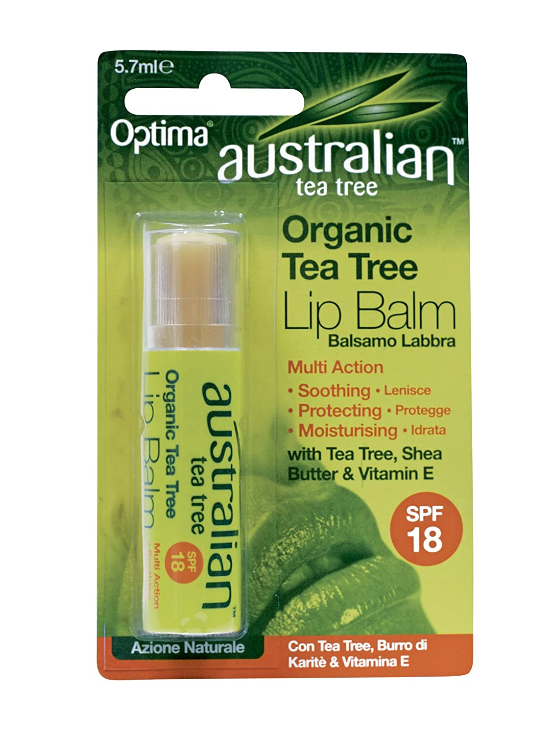 Australian Tea Tree Balsamo Labbra 5, 7 ml Tree of Life UK Ltd 67177 WRC01049_verde