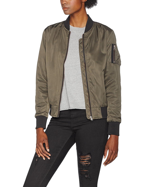 Urban Classics Ladies Nylon Twill Bomber Jacket, Chaqueta Mujer