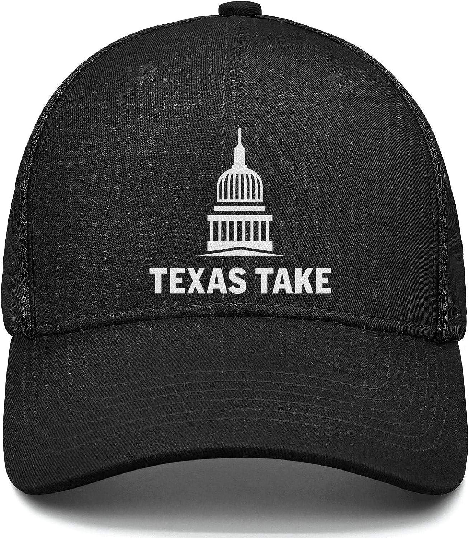 Texas Take White Baseball Hat Adjustable Unisex Mesh Cap Duck Tongue Caps Cool Hat