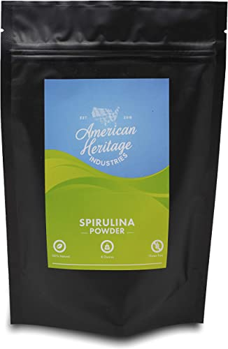 Spirulina Powder 8 OZ by American Heritage Industries