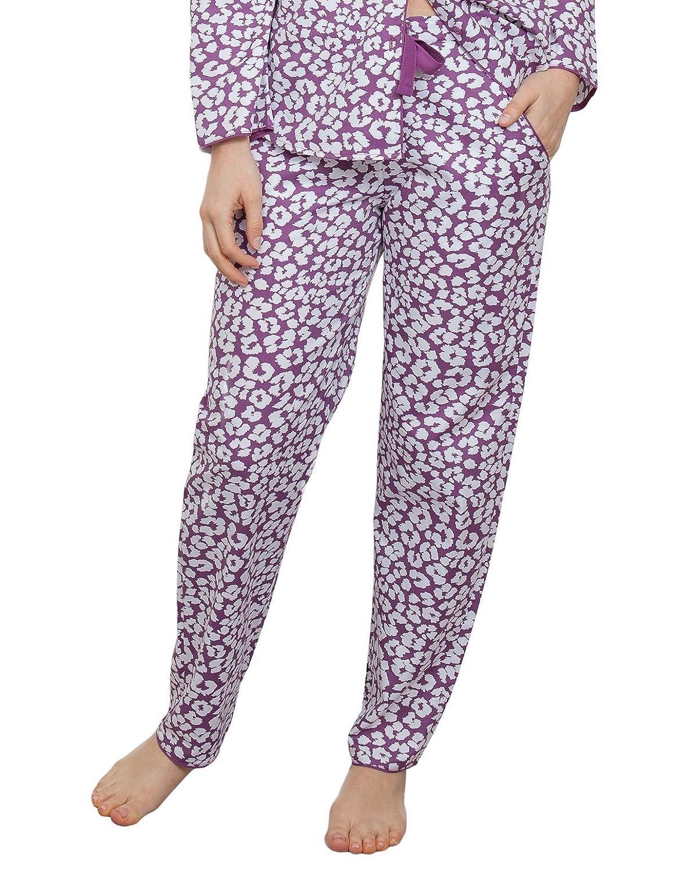 TALLA 34. Cyberjammies 3828 Women's Fiona Pink Animal Print Pajama Pyjama Pant