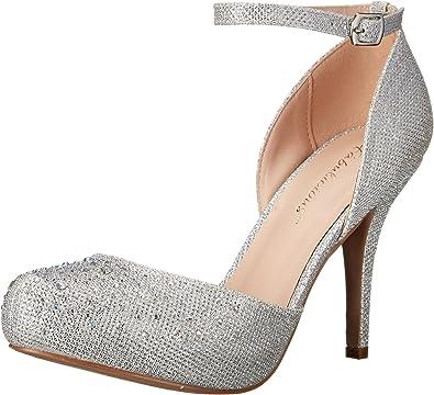 Pleaser Covet 03, Zapatos de tacón, Mujer, Plateado (Slv Glitter Mesh Fabric), 37 EU