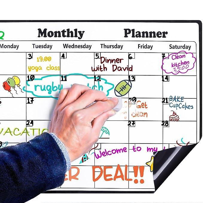 46 opinioni per Lavagna Magnetica Frigorifero Rabbitgoo lavagna frigo con Calendario Mensile
