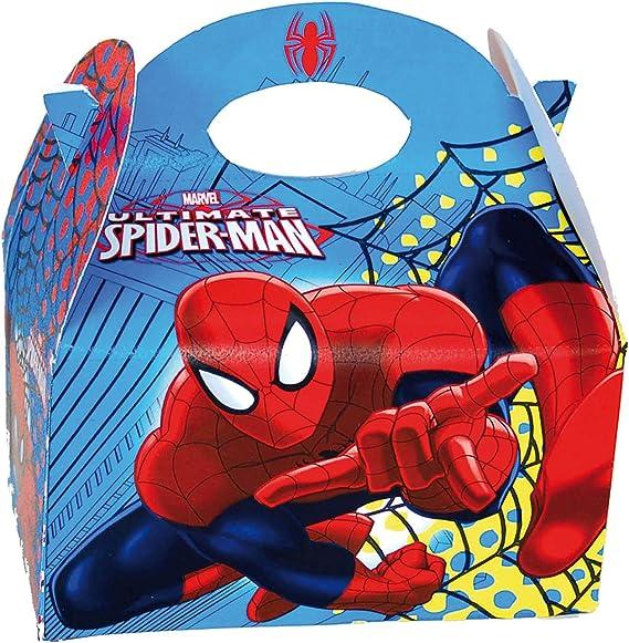 Marvel Comics Spider Man, caja de recuerdos para fiesta x1: Amazon.es: Juguetes y juegos