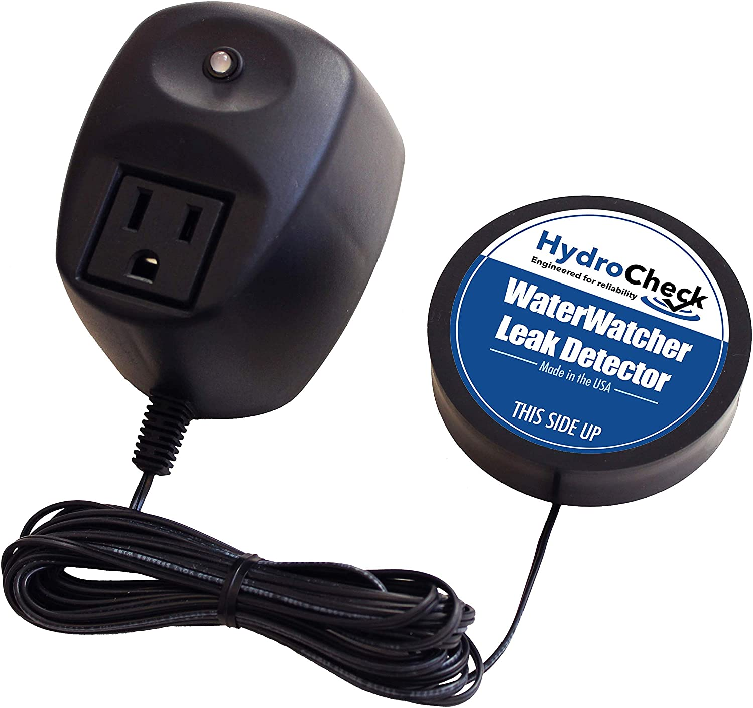 Leak Detector Alarm, Smart Sensor and Alert, Turns Off Flood Source, Pure Water Capable, Made in the USA by HydroCheck (WaterWatcher)