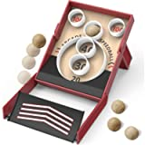 Sharper Image Collapsible Retro-Style Speedball Game, Indoor and Outdoor Arcade Toy, Roll The Ball and Hit The Target…