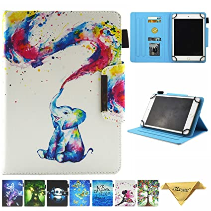 7 5-8 5 Inch Tablet Universal Case, JZCreater Stand Wallet Case for iPad  Mini 1/2/3/4 /Samsung Galaxy Tab 8 0 Series/F ire HD 8 2016 2017 2018 and