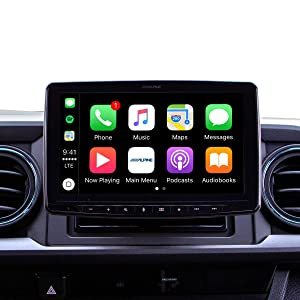"Alpine iLX-F309TCM HALO9 9"" Receiver for Toyota Tacoma 2016 and up - Compatible with Apple CarPlay and Android Auto (No-CD)"