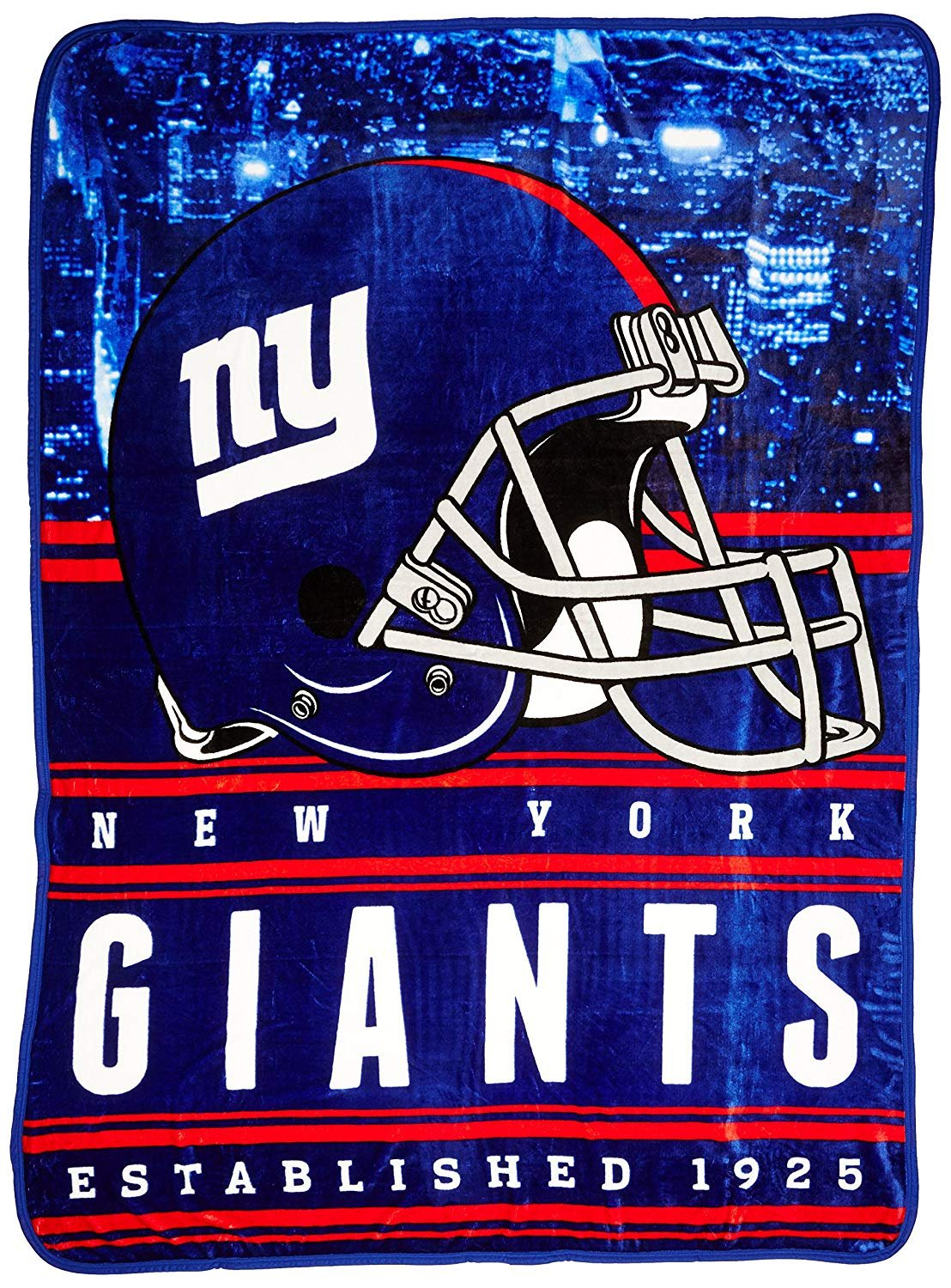Officially Licensed NFL York Giants Stacked Silk Touch Throw Blanket, 60' x 80' 60 x 80 The Northwest Company 1NFL071000081RET