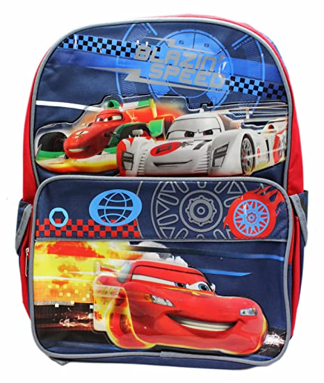 Image Unavailable. Image not available for. Color  Disney Pixar s Cars  Drifting Lightning McQueen Full Size Backpack ... f7034c758825f