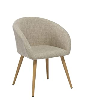 duhome elegant lifestyle chaise salle manger en tissu lin crme design retro chaise - Chaise Scandinave Design