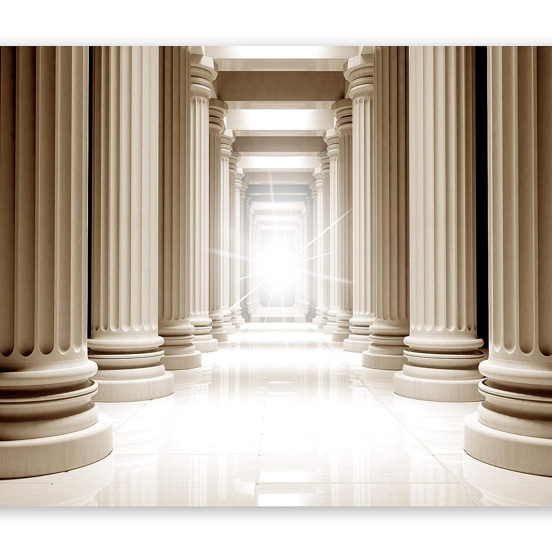 Murando - Fototapete 400x280 cm - Vlies Tapete - Moderne Wanddeko - Design Tapete - Wandtapete - Wand Dekoration - Säulen Griechenland Perspektive d-A-0037-a-b