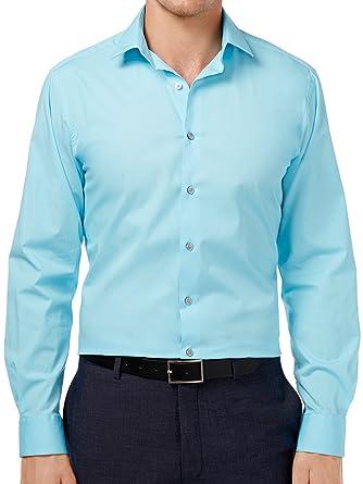 a5954b64c Alfani Mens Slim Fit Stretch Dress Shirt at Amazon Men s Clothing store