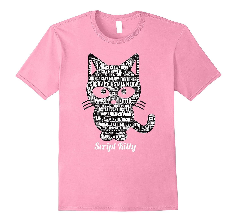 Script Kiddie Cat (Script Kitty) Linux Shirt by MCMA-T-Shirt