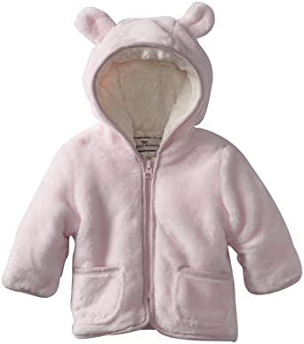 Amazon Com Widgeon Baby Girls Hooded Fuzzy Jacket Pink 18 Months
