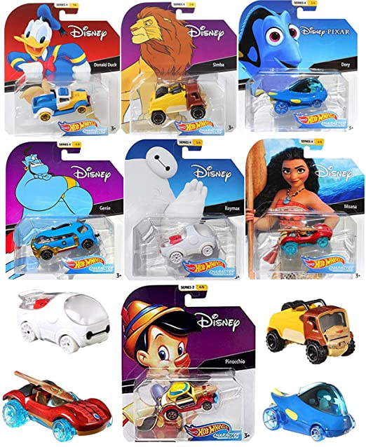 Hot Wheels Series 4 Cartoon Character Pack Car Disney Racers ...
