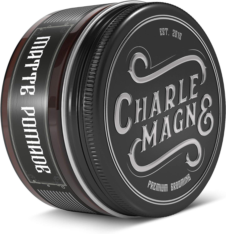 Charlemagne Matte Pomade - Fijación fuerte - fragancia noble - Acabado mate para el cabello - Cera capilar mate para hombres - 100ML – Crema capilar hecha en Reino Unido – Calidad de barbero