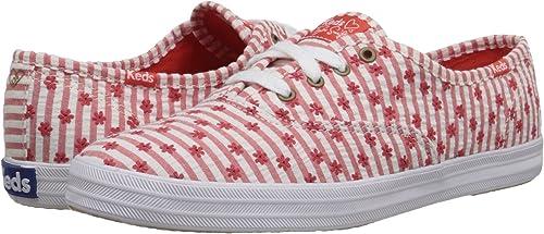 b0100236dfcf Keds Women s Champion Taylor Swift Seersucker Red Sneaker 6.5 B (M ...