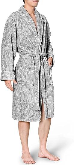 Premium Men/'s Sherpa Fleece Christmas Soft Warm Plush Bathrobe Choose SZ//Color