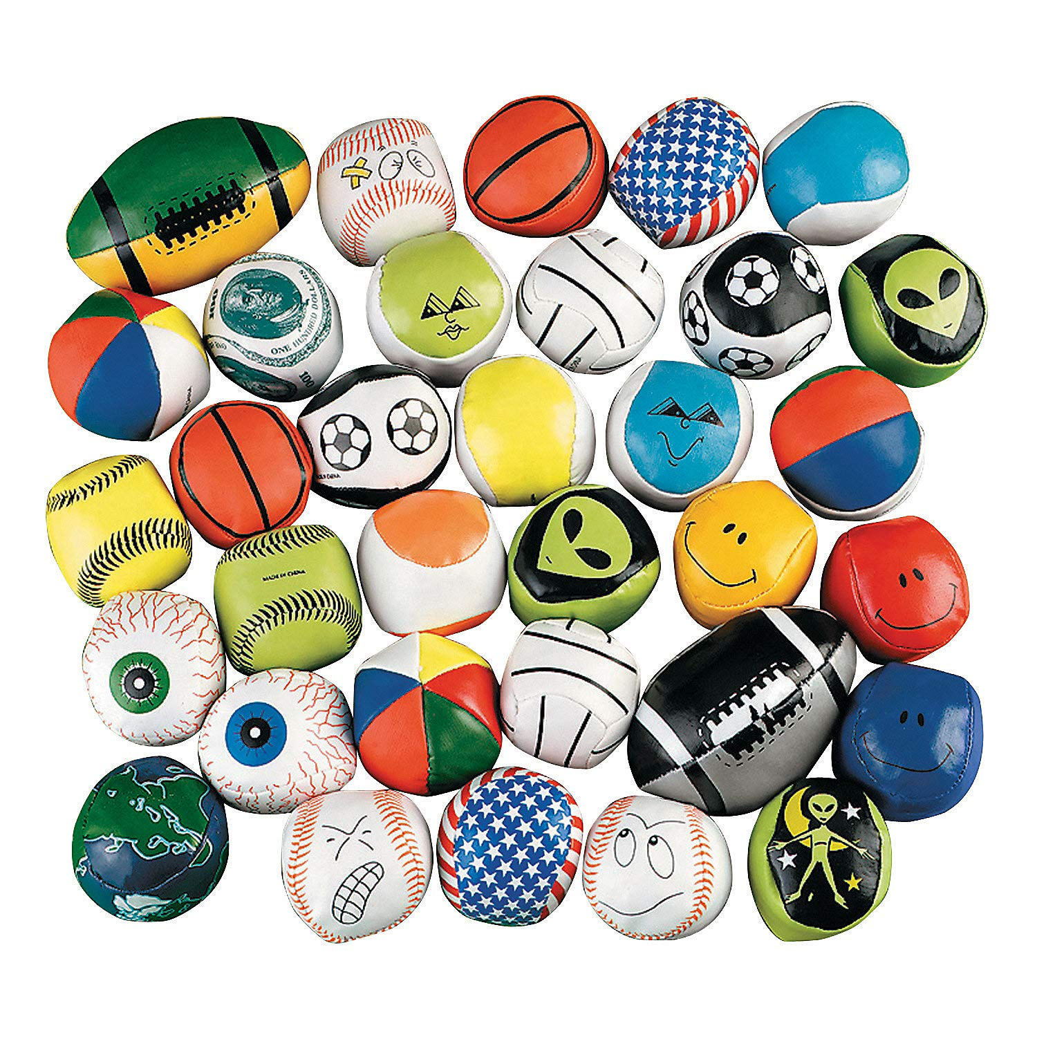 Fun Express - Mega Kick Ball Assortment (100pc) - Toys - Assortments - 100Pc Assortments - 100 Pieces by Fun Express