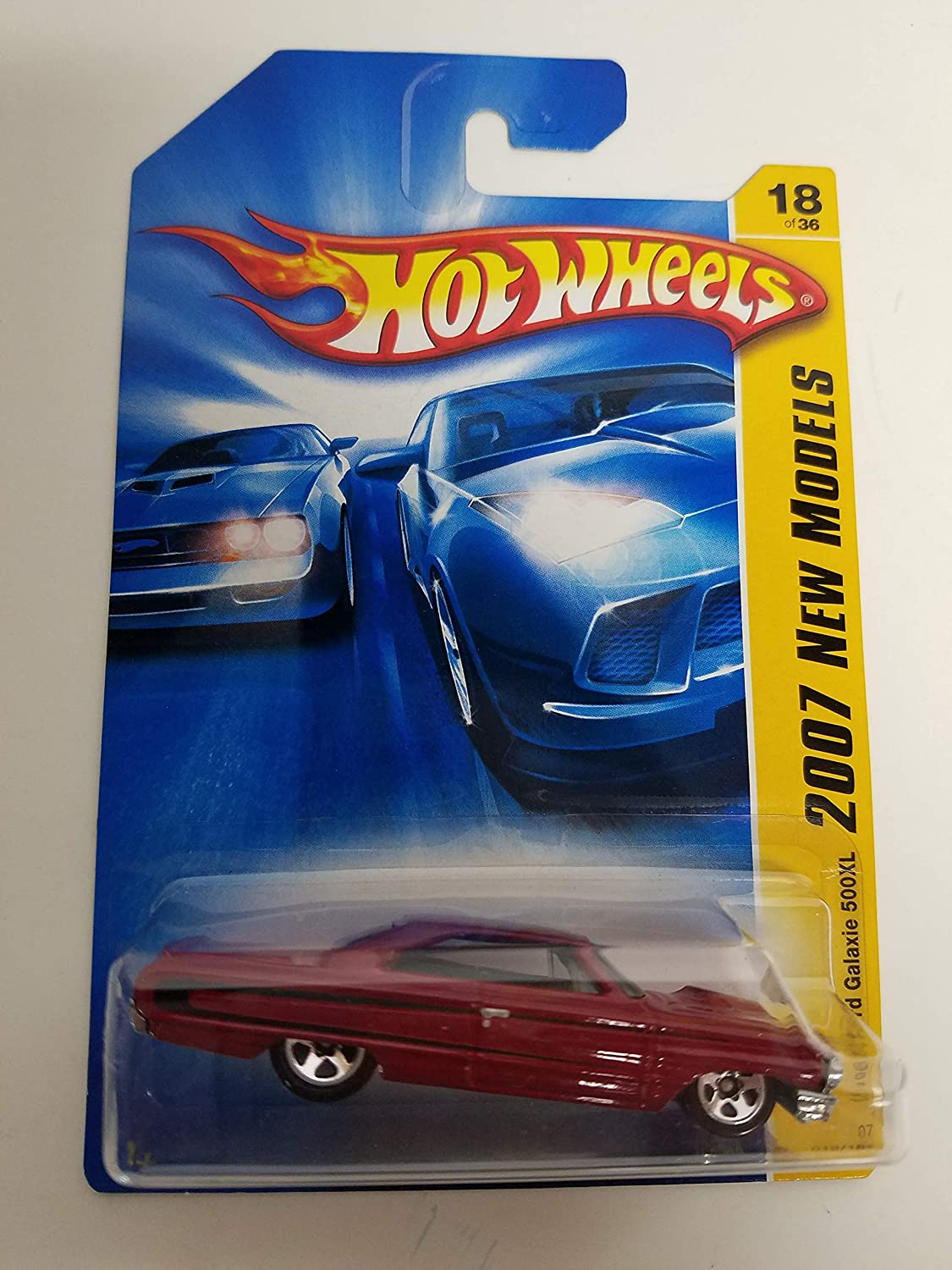 1964 Ford Galaxie 500 XL Red Color 2007 New Models 18 of 36 Hot Wheels diecast car No. 018