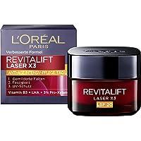 L'Oréal Paris revitalift laser X3 dagkräm LSF 20, antiage-ansiktskräm, 50 ml, röd