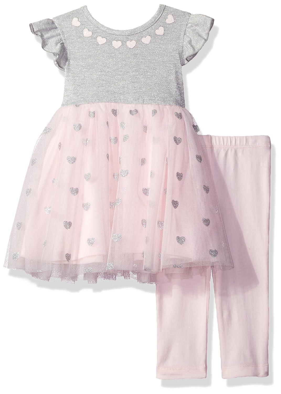 Little Me Baby Girls Mesh Play Dress with Capri Set