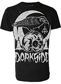 e1e645752 Crow Skull Genuine Darkside Mens T Shirt Occult Nu Goth Satanic Gothic  Alternative Clothing