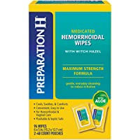 Preparation H Flushable Medicated Hemorrhoid Wipes, Maximum Strength Relief with...