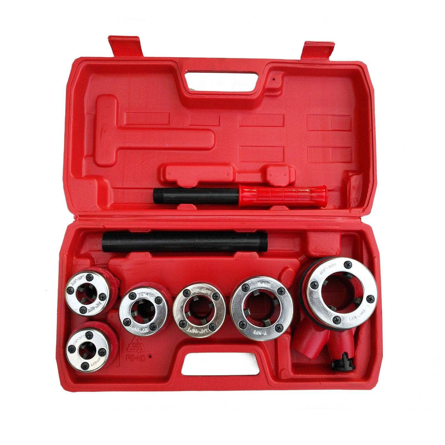 Ratchet Pipe Threader- 6 Piece Die Pipe Threading Set, NPT ½'' to 1¼'' Cutting Tool For All Kinds Of Pipes, a U.S. Solid Product by U.S. Solid