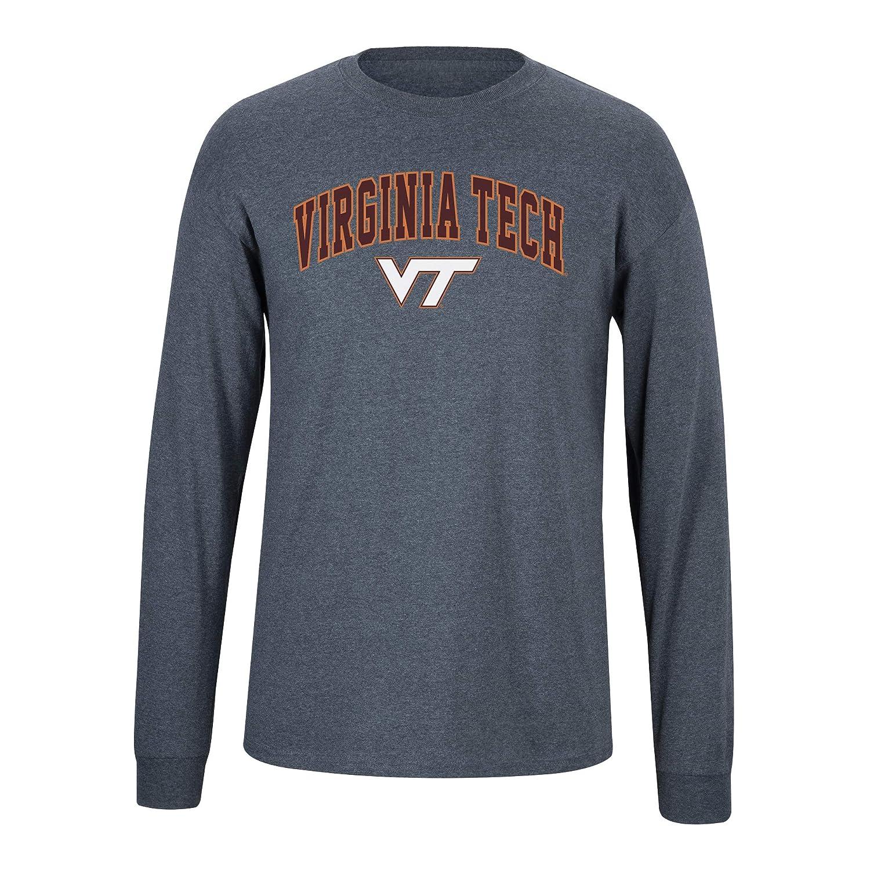 Elite Fan Virginia Tech Hokies Mens Long Sleeve Arch Tee X Large Dark Heather