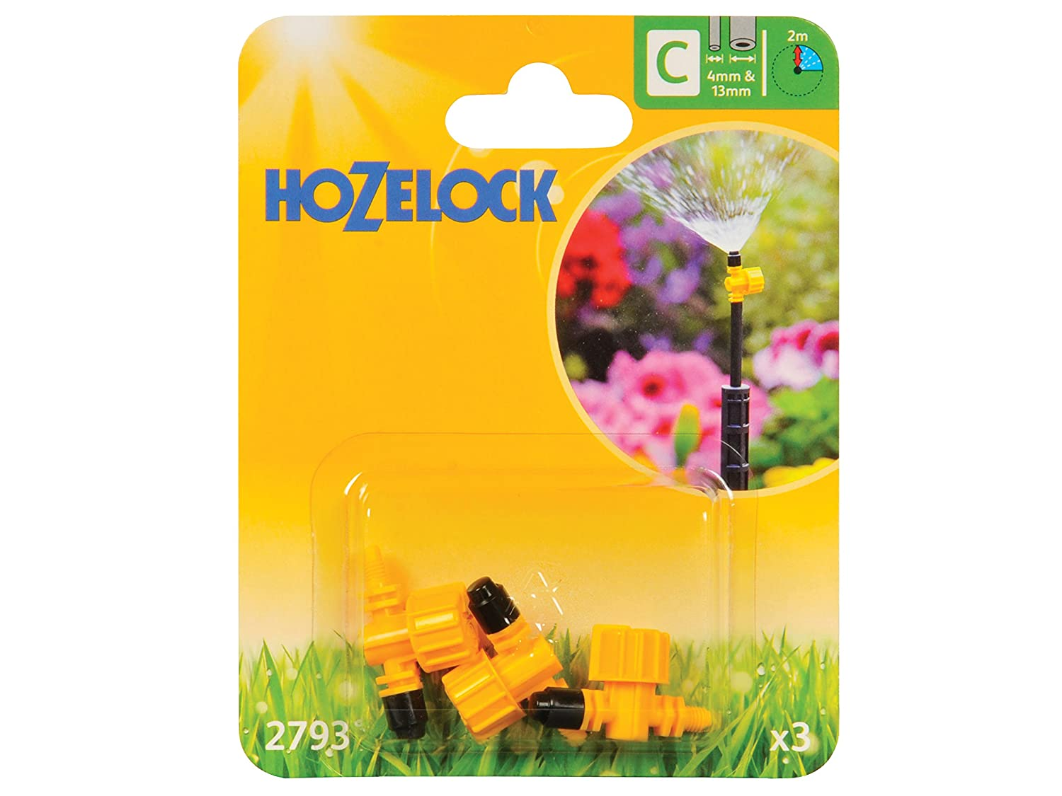 Hozelock 4/13 mm 90 Degree Adjustable Micro Jet (Pack of 3) 2793P0000