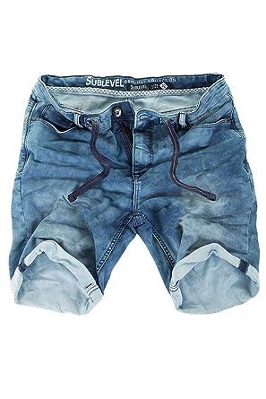 ff77d1c86130 Sublevel Sweat Jeans Shorts Herren Kurze Hose Jeansshorts Denim Sommer  Jogger Bermuda Chino  Amazon.de  Bekleidung