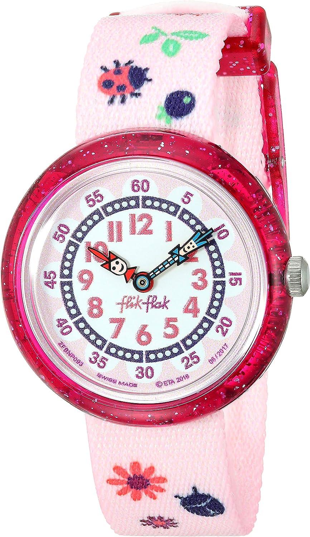 FlikFlak Mädchen Analog Quarz Uhr mit Stoff Armband FBNP093: Amazon.de: Uhren -