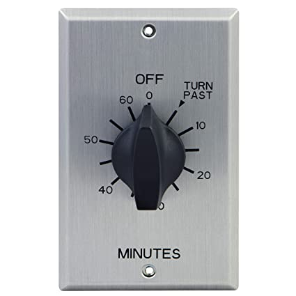 GE Minute Countdown Timer, in-Wall Mechanical Switch, Spring Wound, Up to  60 Min, Auto Shut Off, No Neutral Wire Needed, Ideal for Lights, Exhaust