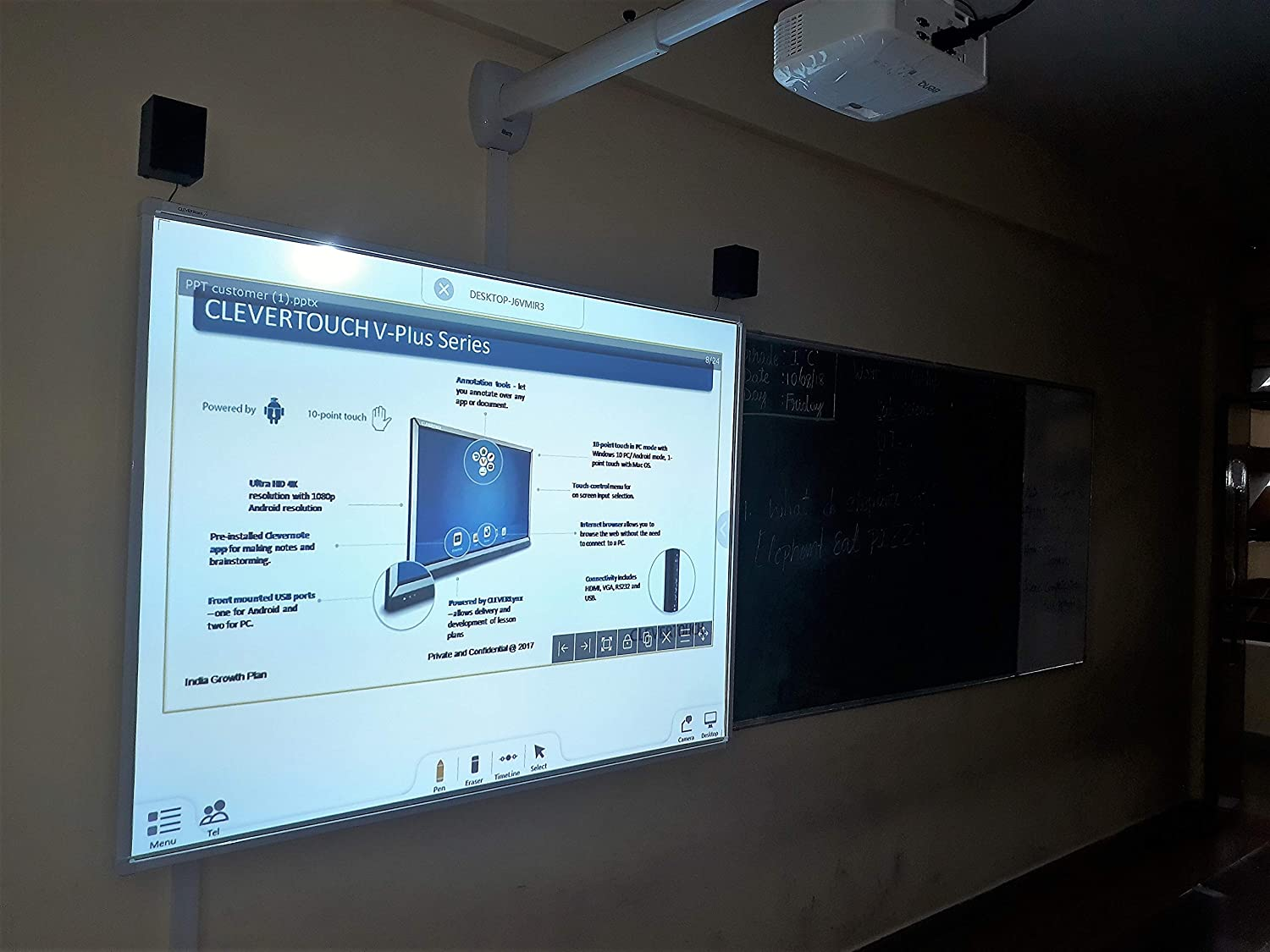 CLEVERTOUCH Interactive Whiteboard/Smart Board with S L W