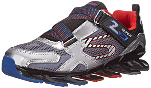433980b0efaa Skechers Boys  Mega Blade 2.0 Silver and Black Sneakers - 12 UK India (