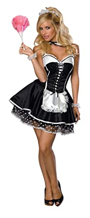 Secret Wishes Sexy Maid Costume Black X-Small  sc 1 st  Amazon.com & Amazon.com: Secret Wishes Maid Costume: Clothing