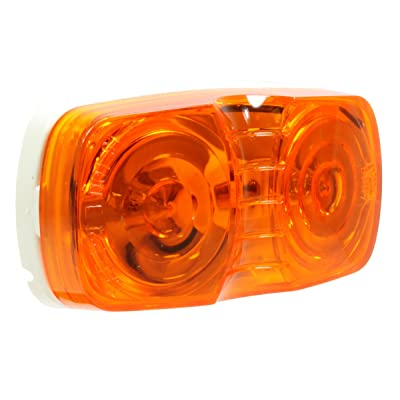 "Vehicle Safety Manufacturing 1211A Amber 4"" Double Bullseye Clearance/Marker Lamp (Amber Lens): Automotive"