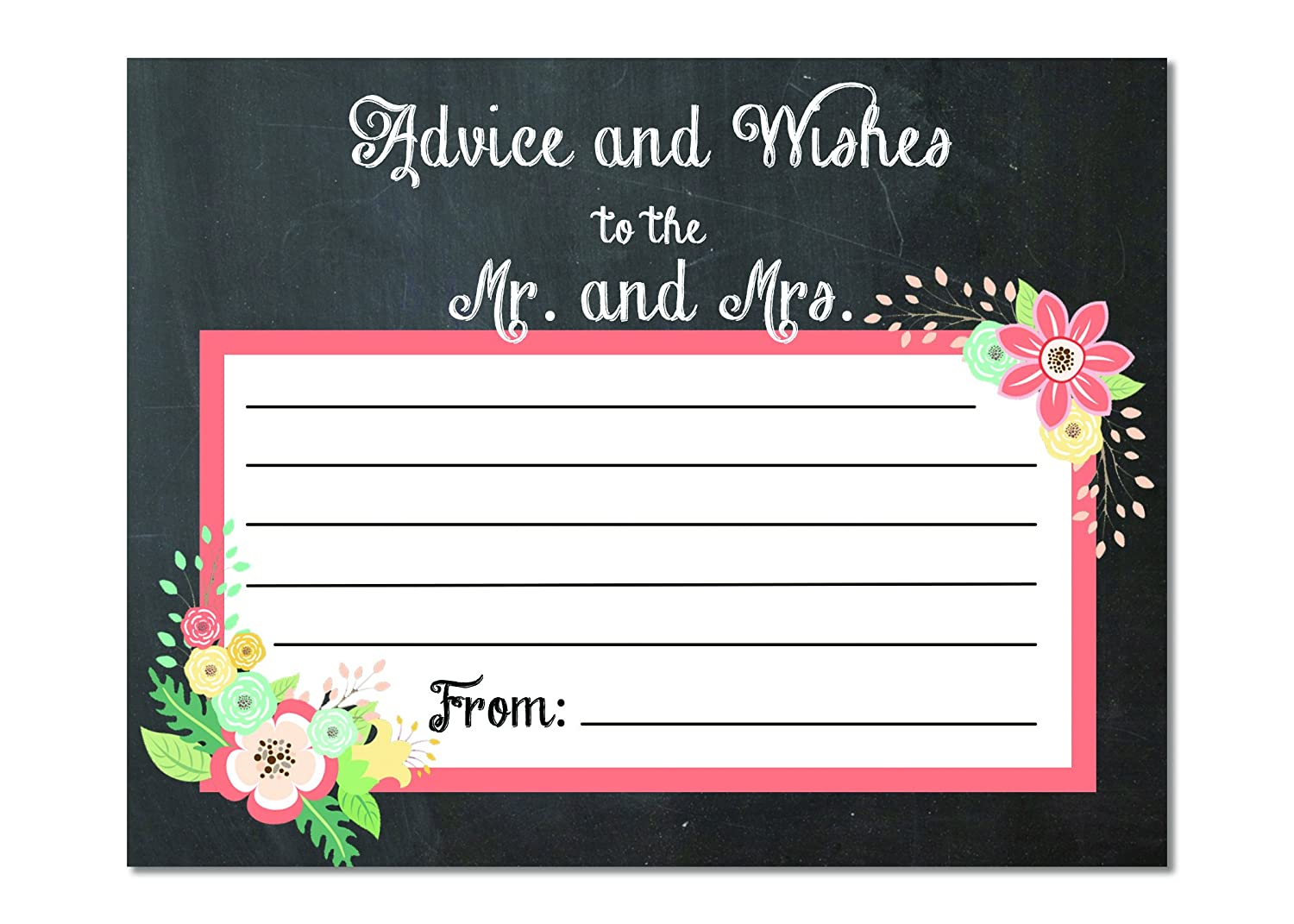 Engagement Party Games Bridal Shower Activity Wedding Advice Cards Advice for the Bride and Groom Advice Cards Set of 25 Bridal Shower Games
