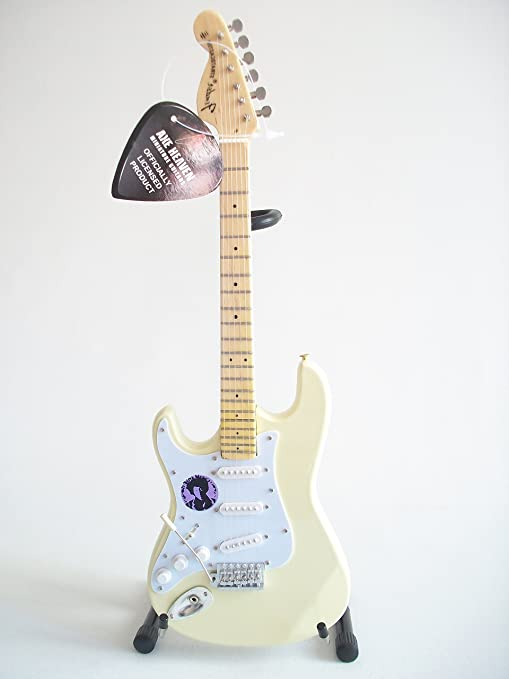 Axe Heaven: Fender Strat Left Hand White Miniature Guitar Model ...