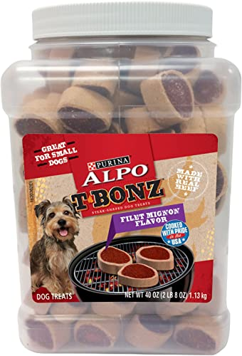 Purina Alpo Tbonz Filet Mignon Flavor Dog Treats – 40 Oz. Canister