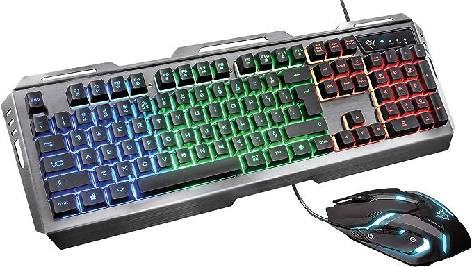 Trust Gaming GXT 845 Tural - Set de Teclado y ratón Gaming, Color ...