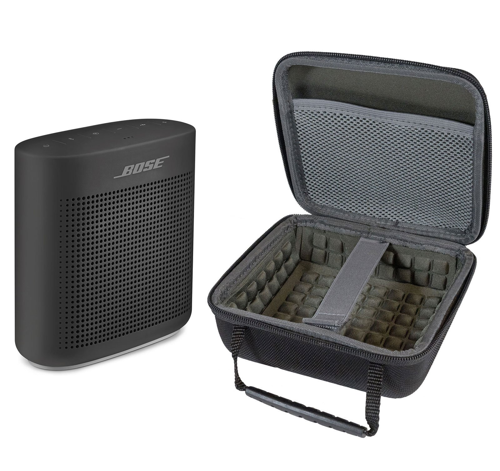 Bose SoundLink Color II Bluetooth Speaker, Soft Black, with Portable Hardshell Travel Case by Bose