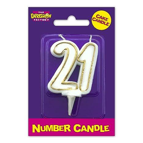 Age 21 Milestone Birthday Cake Candle Amazoncouk Toys Games