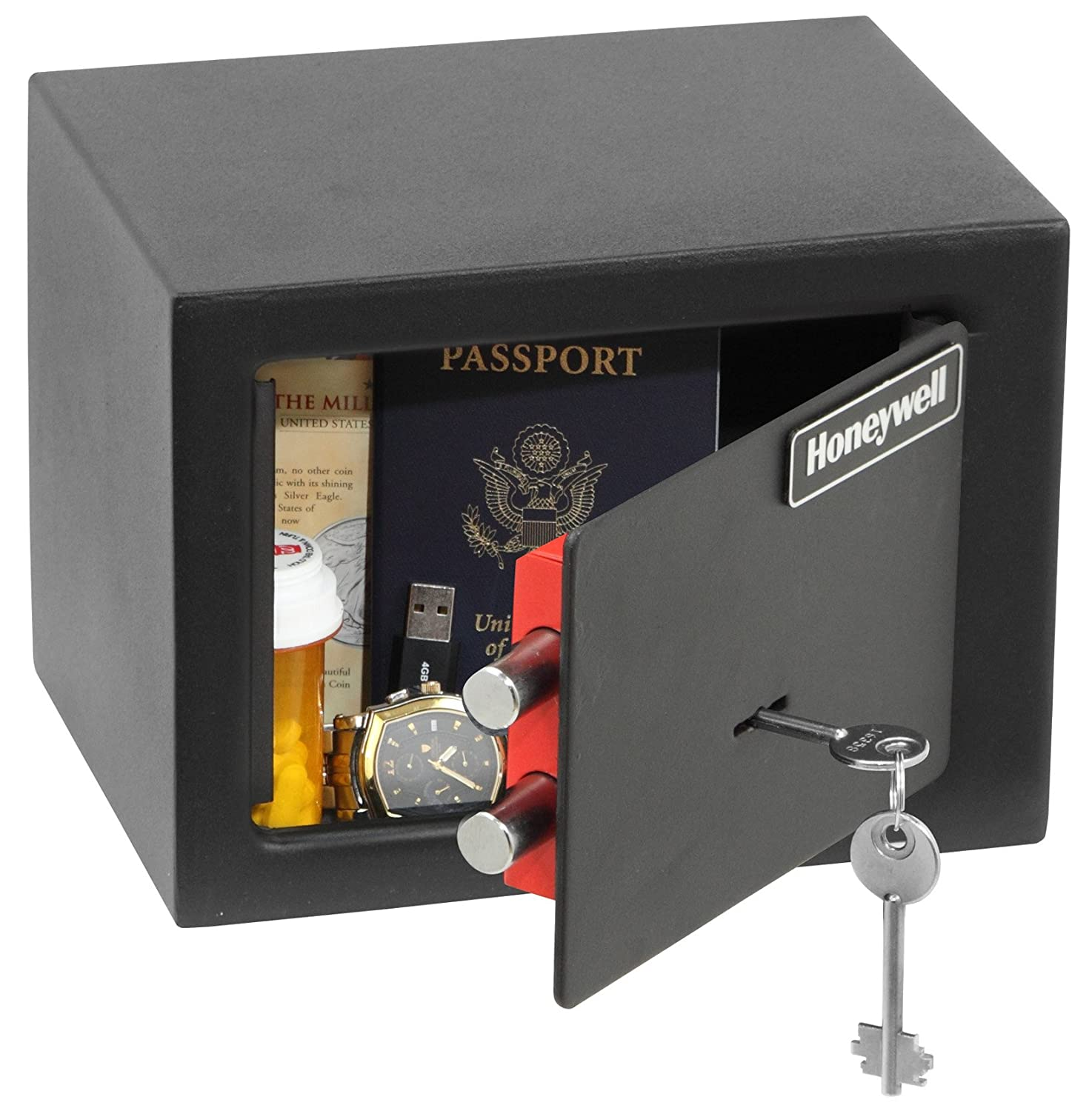 Honeywell 5002 Small Steel Security Safe 0.18 Cubic Feet