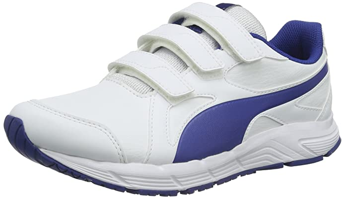 Puma Unisex-Kinder Axis v4 SL V Low-Top, Weiß White-Limoges 06, 37 EU