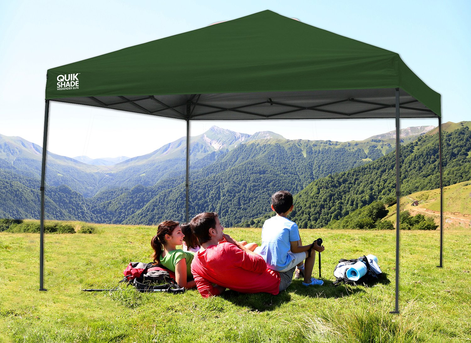 Amazon.com Quik Shade Weekender Elite WE100 10u0027x10u0027 Instant Canopy - Green Sports u0026 Outdoors & Amazon.com: Quik Shade Weekender Elite WE100 10u0027x10u0027 Instant ...