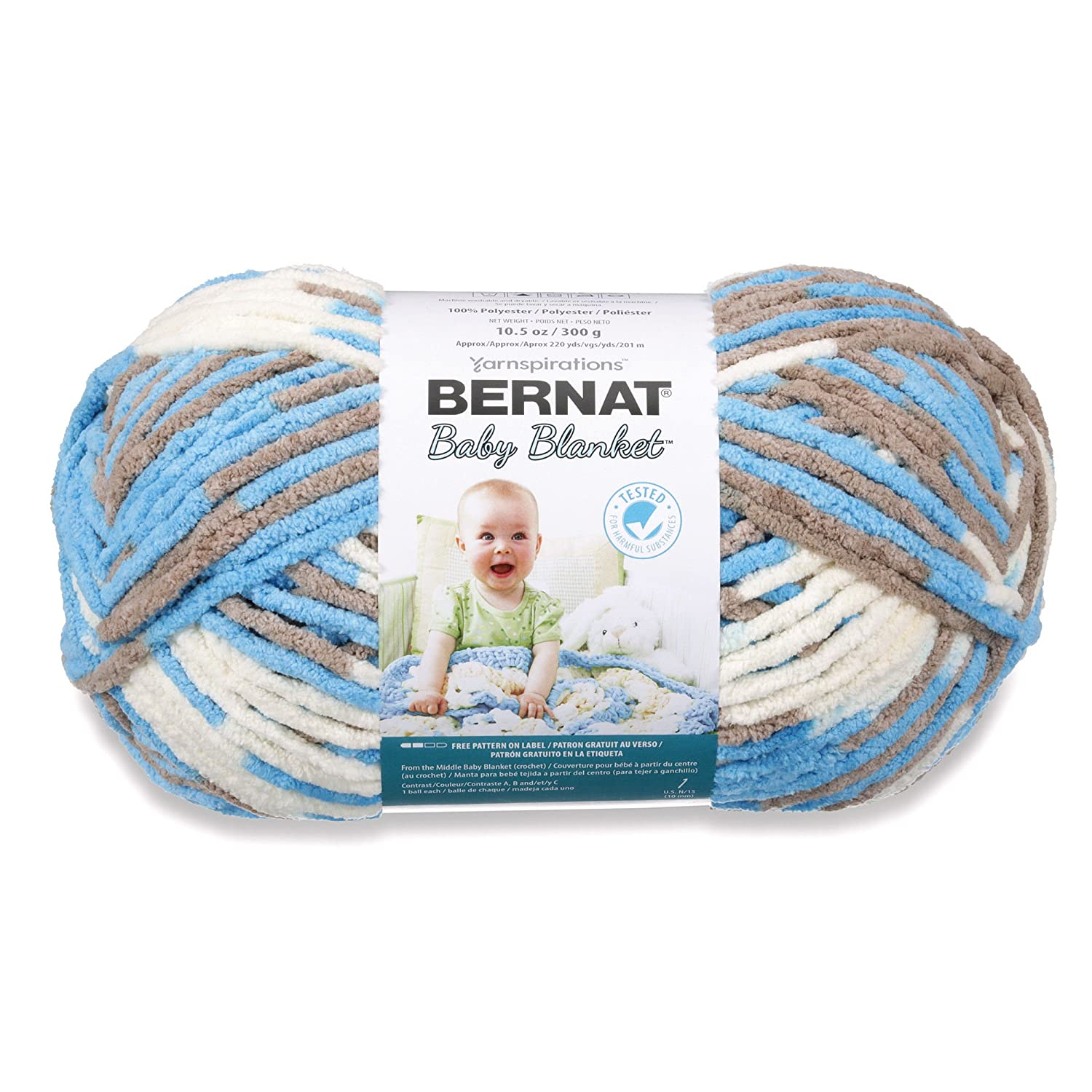 Bernat Baby Blanket Yarn, 10.5 Ounce, Little Royales, Single Ball ...